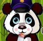 Cuidar do panda bebê