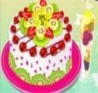 Decorar bolo com sabor de frutas
