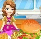 Preparar hambúrguer da Princesa Sofia