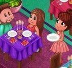 Servir jantar no restaurante