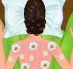 Zoe no spa e massagem
