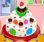 Preparar bolo confeitado de bombons