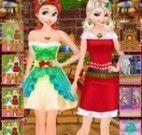 Roupas de natal Elsa e Anna