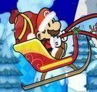 Mario no trenó de Natal