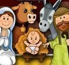 Decoração do presépio natalino