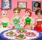 Jantar de Natal princesas