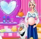 Elsa grávida banho do Olaf
