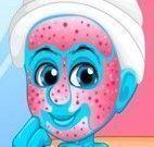 Smurfette limpeza de pele e maquiagem