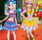 Baile de balão Elsa e Anna