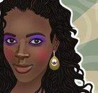 Maquiagem para garota africana