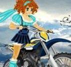 Aventuras de menina na moto
