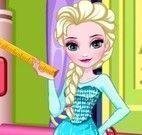 Elsa costurar vestido