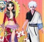 Jack e Elsa roupas de chineses