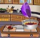 Preparar bife e salada