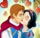 Branca de Neve beijar príncipe