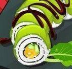 Fazer sushi com ervas