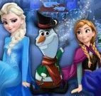 Elsa e Anna enfeitar Olaf