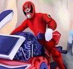 Power Ranger corrida de moto