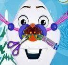 Cuidar do nariz do Olaf