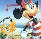 Puzzle do Mickey e Pluto na praia