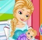 Elsa Frozen parto cesariana