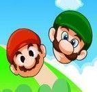 Mario e Luigi nas volta para casa
