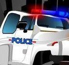 Corrida de carro de polícia