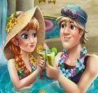 Anna festa na piscina