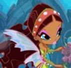 Fada Winx Layla no fundo do mar