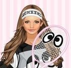 Vestir jogadora de tênis