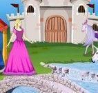 Decorar cenário do castelo da Barbie