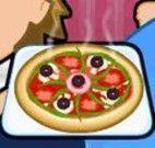 Servir pizza para criança