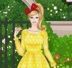 Roupas e maquiagem da Barbie no parque