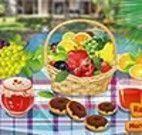 Decorar mesa de frutas e doces
