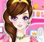 Princesa limpar castelo