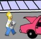Simpsons pegar barril