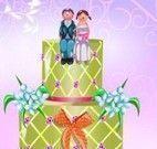 Noiva e noivo bolo decorado