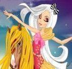 Roupas para garota e o cavalo