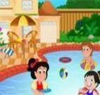 Decorar piscina com crianças