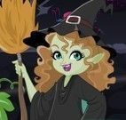 Atender na lanchonete da festa de Halloween