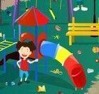 Limpeza do parque de diversões