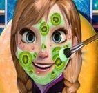 Anna Frozen limpeza facial no spa