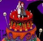 Decorar bolo de casamento halloween