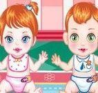 Cuidar dos bebês gêmeos