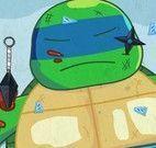 Cuidar dos machucados da tartaruga ninja