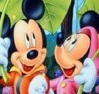 Letras do alfabeto Minnie e Mickey