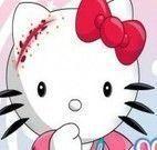 Cuidar da Hello Kitty machucada