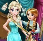 Anna costurar vestido da Elsa