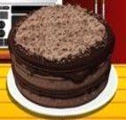 Cozinhar um bolo de chocolate