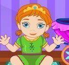 Cuidar da Anna e Elsa bebê